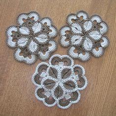 Crocheted Cotton Starburst Trivets / Hotpads - for home, via Flickr.