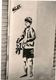 "photo: Dubus Christine, Paris Blek le Rat, born Xavier Prou, was one of the first graffiti artists in Paris, and has been described as the ""Father of Stencil Graffiti"". Xavier Prou was born in Boulogne-Billancourt in the western suburbs of. Best Street Art, Amazing Street Art, Blek Le Rat, Beaux Arts Paris, Stencil Graffiti, See No Evil, Bansky, Street Art Graffiti, Urban Art"