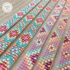 Loom Bracelet Patterns, Bead Loom Bracelets, Bead Loom Patterns, Beaded Jewelry Patterns, Friendship Bracelet Patterns, Seed Bead Jewelry, Bead Jewellery, Bead Loom Designs, Handmade Wire Jewelry