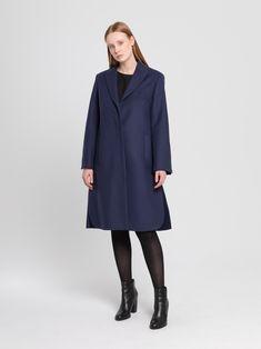 Fall Winter, Autumn, Bleu Marine, Composition, High Neck Dress, France, Paris, Boutique, Collection