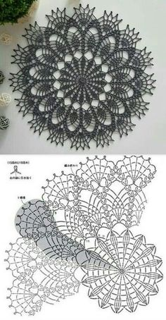 Col Crochet, Crochet Patron, Crochet Dollies, Crochet Art, Thread Crochet, Crochet Motif, Crochet Crafts, Free Crochet Doily Patterns, Crochet Doily Diagram