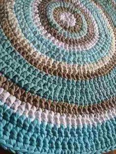 Alfombras Tejidas Crochet Con Hilo Totora (tela De Algodón) - $ 780,00