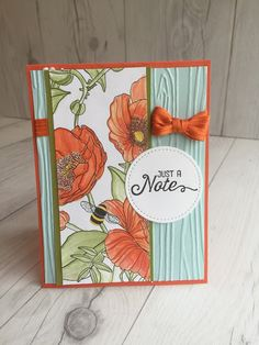 Stampin' Up! hand made card using Inside the Lines Designer Series Paper