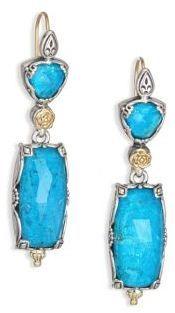 Konstantino Iliada Turquoise, 18K Yellow Gold & Sterling Silver Drop Earrings
