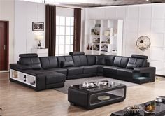 Beanbag Chaise 2016 Specail Offer Sectional Sofa Design U Shape 7 Seater Lounge Couch Good Quality Cheap Price Leather Living Furniture, Bed Furniture, Living Room Sofa, Furniture Design, U Shaped Sectional Sofa, U Shaped Sofa, Sofa Design, Lounge Couch, Modern Leather Sofa