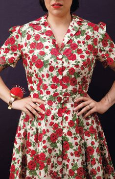 The best roses are the ones on a handmade dress! Gertie's New Book for Better Sewing has you covered.