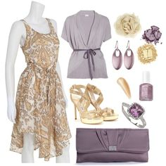 Lavendar & Gold, created by smgilreath.polyvore.com