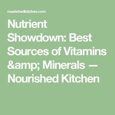 Nutrient Showdown: Best Sources of Vitamins & Minerals — Nourished Kitchen