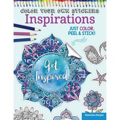 Color Your Own Stickers Inspirations Book
