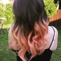 Brown and Peach Ombre Hair - Hair Colar And Cut Style
