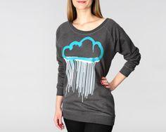 Hektik Streetwear   Cloud Women Sweatshirt   warm & cosy   heather black - turquoise and white print #hektik #cloud #hoodie #streetwear #fashion #urban #streetart Womens Fashion Uk, Heather Black, Hoodies, Sweatshirts, Streetwear Fashion, Her Style, Cosy, Street Wear, Graphic Sweatshirt