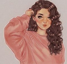 Soft curls, feminine energy ❤ Soft curls, feminine energy ❤ in 2019 Cute Girl Drawing, Cartoon Girl Drawing, Beautiful Girl Drawing, Art Anime Fille, Anime Art Girl, Cute Art Styles, Cartoon Art Styles, Girly Drawings, Art Drawings Sketches