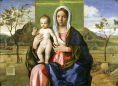 The Madonna and Child, dated is the latest of the works by Bellini in Brera. When he painted it, Bellini was around eighty and one of Madonna Und Kind, Madonna And Child, Renaissance Paintings, Renaissance Art, Catholic Art, Religious Art, Andrea Mantegna, Giovanni Bellini, Italian Painters