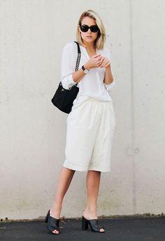 5 dicas pro office look ser muito estiloso - street style - total branco - calça pantacourt