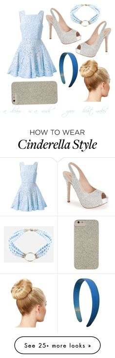 """Cinderella inspired"" by jennisa-penner on Polyvore featuring Alex Perry, Lauren Lorraine, Case-Mate, Justine Clenquet, women's clothing, women, female, woman, misses and juniors"