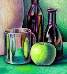 Art Lessons Oil Pastels Great Lesson for Still Life with Oil Pastels High School Art Less Oil Pastel Drawings, Oil Pastel Art, Pastel Artwork, Pastel Paintings, Oil Paintings, Art Drawings, Still Life Drawing, Still Life Art, High School Art Projects