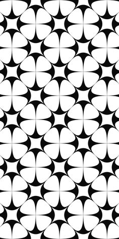 Monochrome seamless star pattern design
