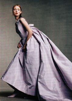 us vogue april 1998  Portrait of Paris Ph: Steven Meisel Fashion Editor: Grace Coddington Model: Angela Lindvall; Audrey Marney; Kristen Owen; Maggie Rizer Hair: Jimmy Paul Makeup: Diane Kendal