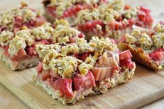 Vegan Chickpea Strawberry-Rhubarb Bars- The Colorful Kitchen