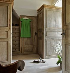 Restored 18th C. millwork in dressing room