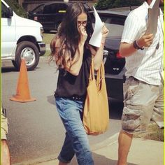Demi Moore on set with her Jennifer Haley Sophisticated Shopper in sand!!