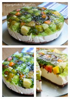 moje pasje: CIASTA BEZ PIECZENIA Camembert Cheese, Good Food, Food And Drink, Sweets, Cheesecake, Baking, Breakfast, Desserts, Recipes