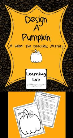 "A great activity to use in October for Halloween.  Students follow the directions on the page to design their pumpkin.  Includes a blank pumpkin worksheet and a page of ""if, then"" directions."