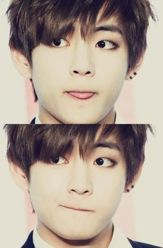 HOW? How can he be so cute and handsome at the same time?! V stop killing us