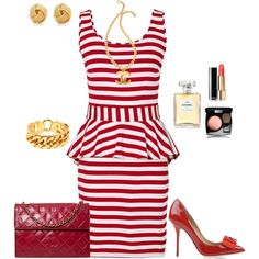 Nautical in red & white created by tsteele