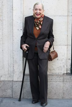 stylin at 98 yrs old!   #ADVANCED STYLE: The Top Ten Ways to Stay Stylish and Look Great at 98