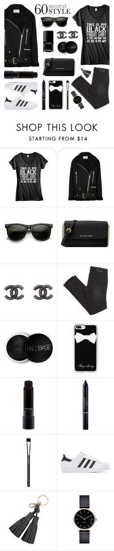 """""""60 Second Style - Happy Black Friday!"""" by lgb321 ❤ liked on Polyvore featuring Acne Studios, ZeroUV, Michael Kors, Chanel, Casetify, MAC Cosmetics, Christian Dior, adidas Originals, Kate Spade and Myku"""