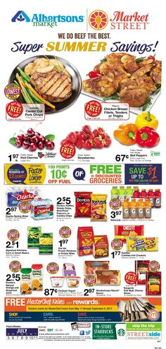 Albertsons Weekly Ad July 5 – 11, 2017. View the Latest Flyer and Weekly Circular ad for Albertsons Here. Likewise you can find the digital coupons, grocery savings, offers, This Week Albertsons Ad sale prices, weekly specials and the latest deals from Albertsons. Here are Albertsons ad this week 7/5/2017 – 7/11/2017: