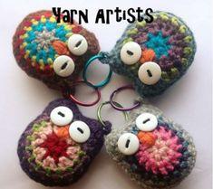Crochet Owl Key Chain [FREE Pattern+Video]