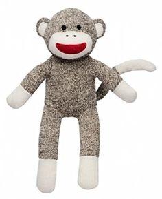 Plush Sock Monkey 14 Inch Lovey Rashti & Rashti http://a.co/1CZjlDb