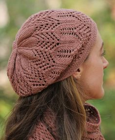 Knitting Pattern Lace Slouchy Hat - #ad Castilleja features a lace pattern inspired by wildflowers. More pics on Etsy tba