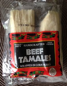 Trader Joe's - Beef Tamales Jacksonville Restaurants, Best Trader Joes Products, Joe Beef, Beef Tamales, Frozen Beef, Tamale Recipe, Trader Joe's, Food For Thought, Happy Birthday
