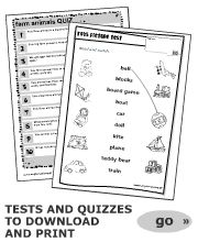 Test | word games, quizzes, songs, printable worksheets