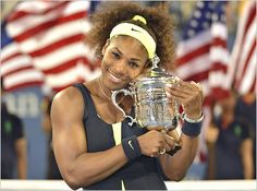 US Open 2014, Awesome Serena Williams.  After winning her 18th Grand Slam Title!  Perfect!!!