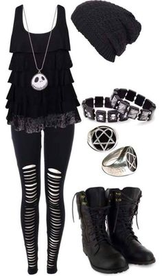 Cute Emo Outfits for Girls – Girl Outfits Cute Emo Outfits, Komplette Outfits, Gothic Outfits, Fashion Outfits, Scene Outfits, Batman Outfits, Polyvore Outfits, Hipster Outfits, Fashion Boots