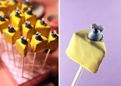 I've been searching for an idea for Mark's birthday dessert.   I think a cheese cake cake pop made like these would be fabulous!