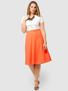 Knit Skirt In Coral Bliss