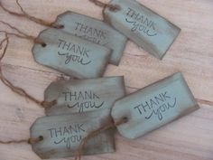 Thank You Tags - Wooden - Rustic - Wedding Favors - Wedding Tags - Set of 10 on Etsy, $8.99