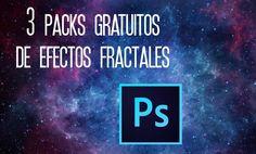 #RecursosWeb 3 packs gratuitos de Efectos Fractales para #Photoshop. #TAVnews