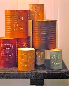 Tin-Can Jack-o'-Lanterns