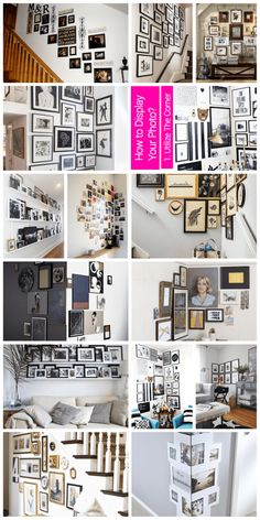 Inspiring Photo Collage Ideas and How to Display - abrittonphotography Make A Photo Collage, Family Photo Collages, Collage Picture Frames, Collage Ideas, Frames On Wall, Collage Collage, Color Collage, Collage Vintage, Wall Picture Design