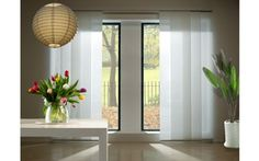 ikea panel curtains - sliding glass door