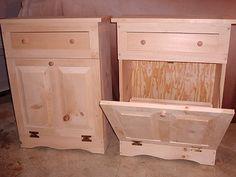 Wooden Trash Bin - Wooden Trash Can - Wood Trash Bin, woodcrafts, wood crafts