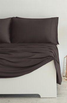 Sheex Luxury Copper Ii Tm Queen 4 Piece Sheet Set Chocolate