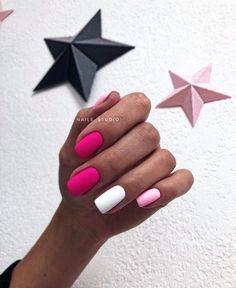 Get Nails, Dope Nails, Pink Nails, Hair And Nails, Stylish Nails, Trendy Nails, Short Nail Designs, Nail Art Designs, Minimalist Nails