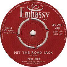 Hit The Road Jack - Paul Rich (WB479) Nov '61